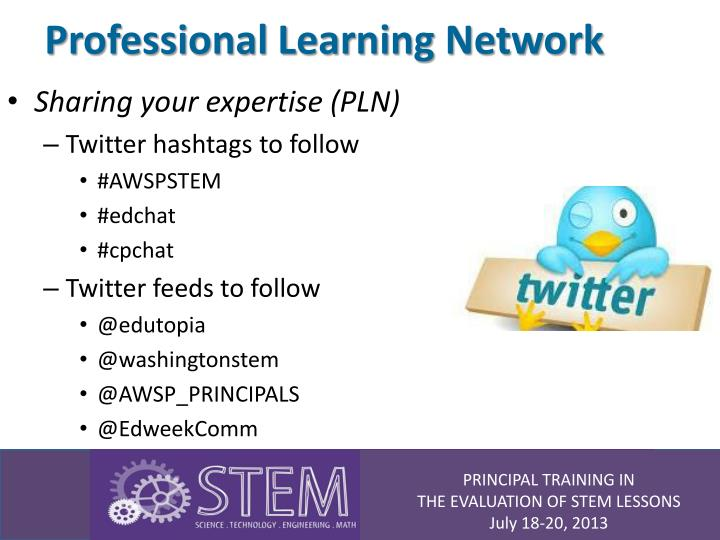 Professional learning network