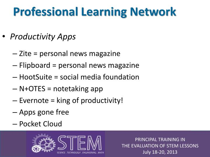 Professional learning network1