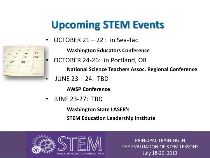 Upcoming stem events
