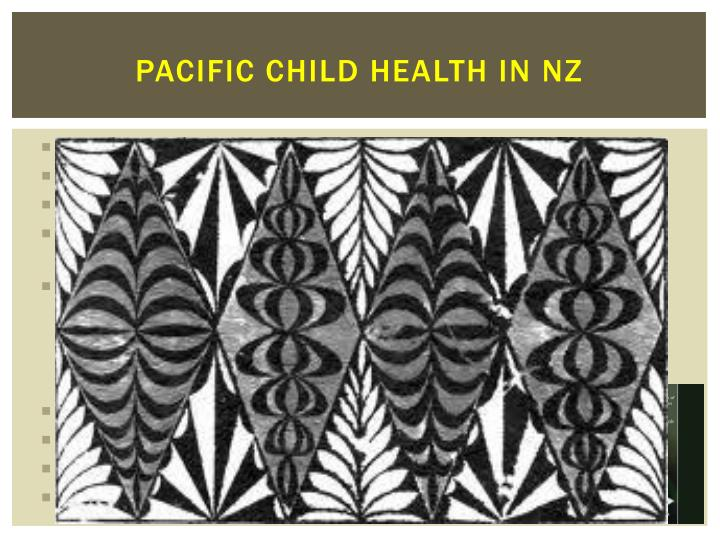 Pacific Child Health in NZ