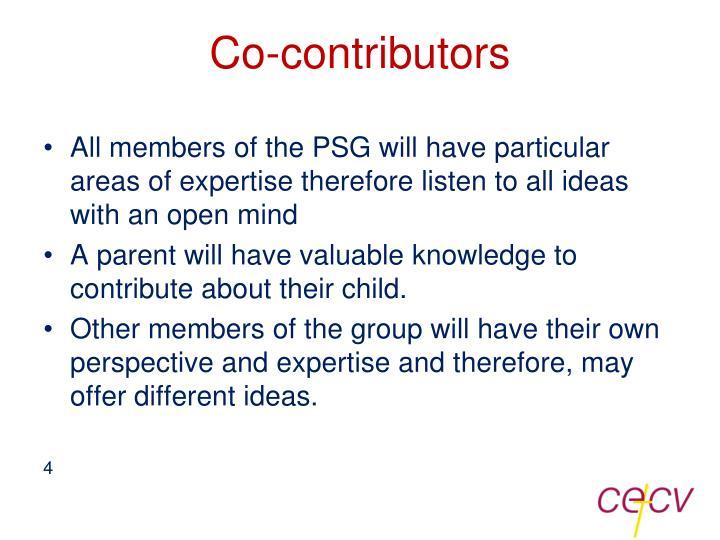 Co-contributors