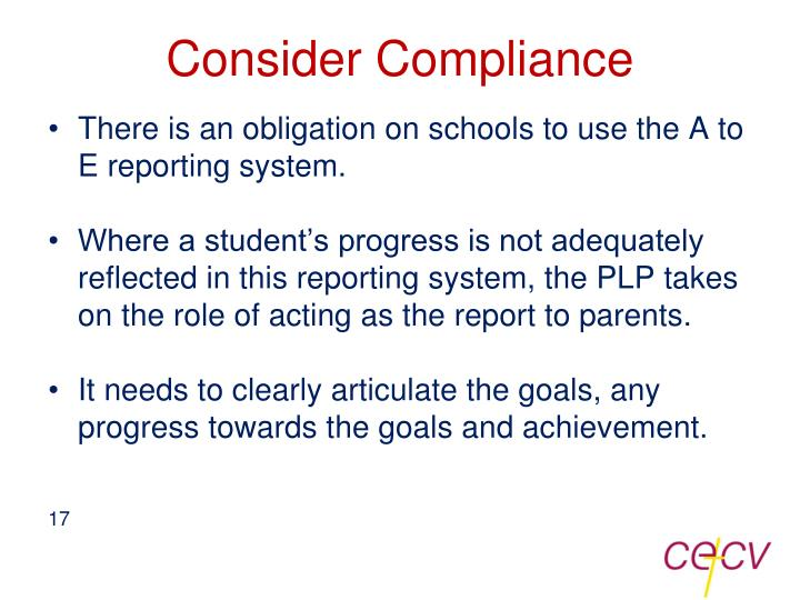 Consider Compliance