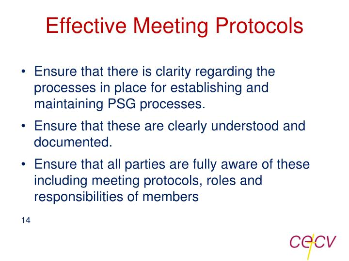 Effective Meeting Protocols