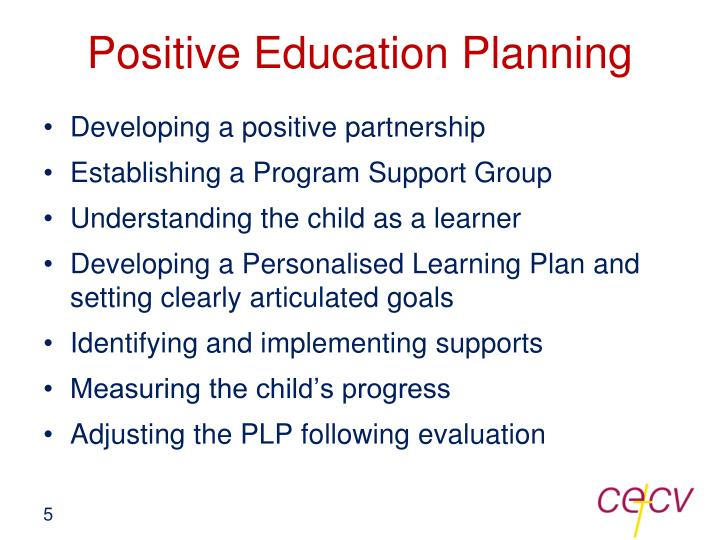 Positive Education Planning
