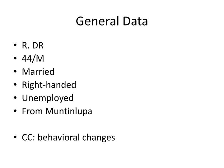 General Data