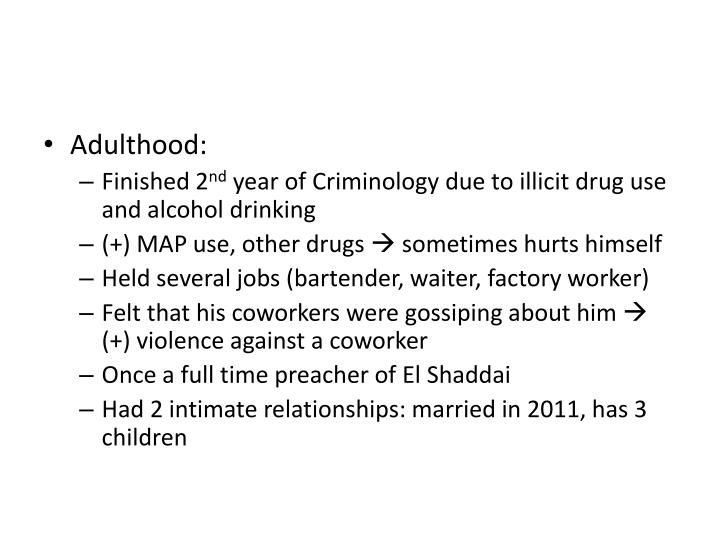 Adulthood: