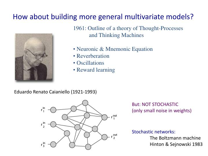 How about building more general multivariate models?