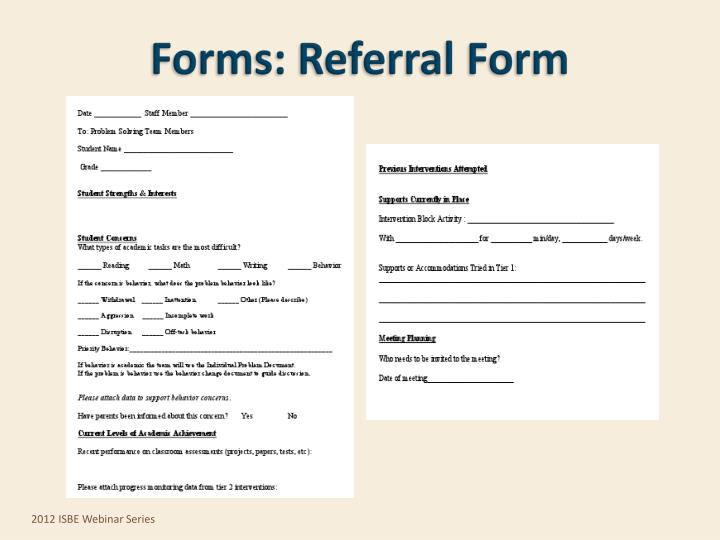 Forms: Referral Form