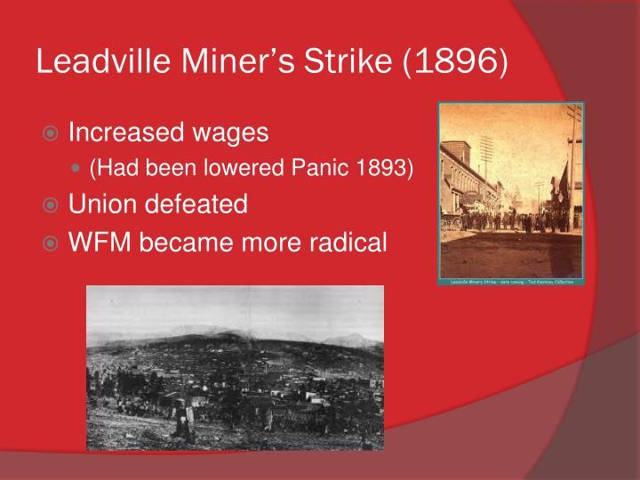 Leadville Miner's Strike (1896)