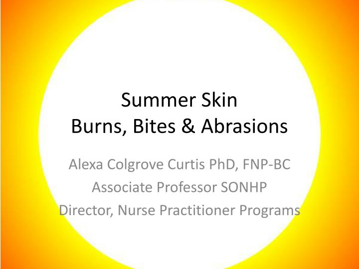 skin cancers conditions and burns