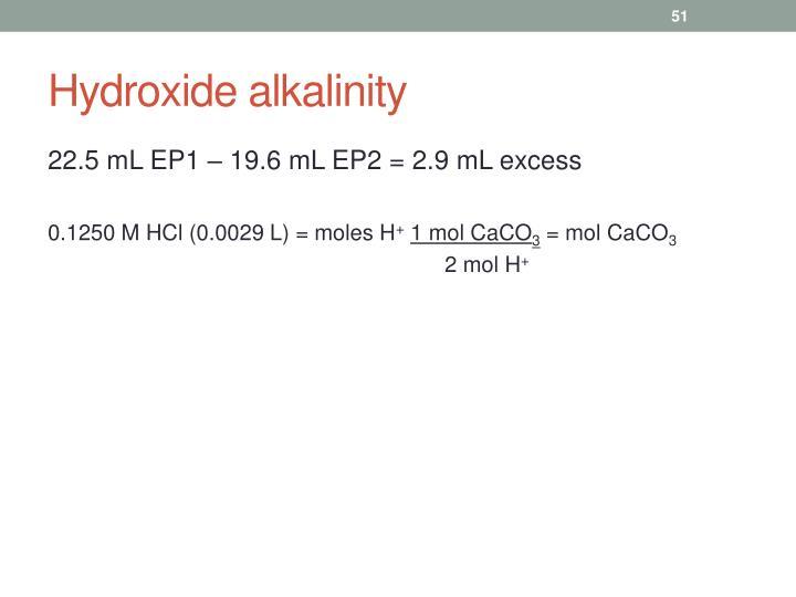 Hydroxide alkalinity