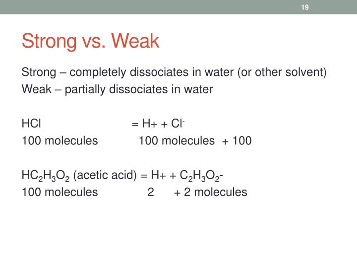 Strong vs. Weak