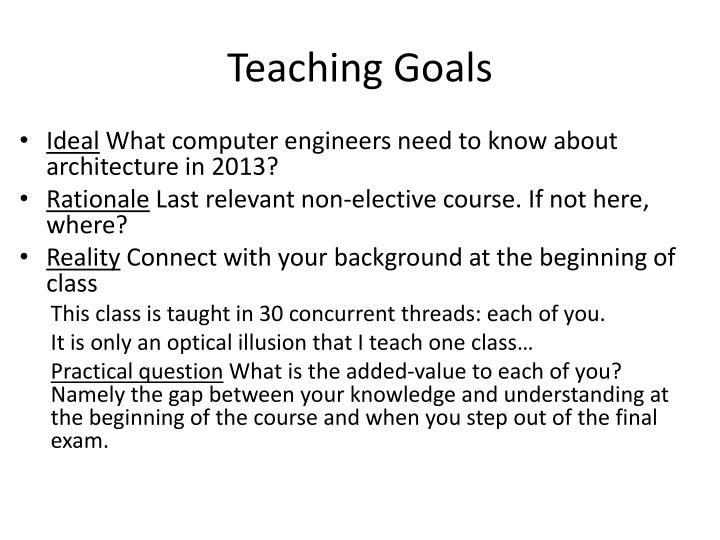 Teaching goals