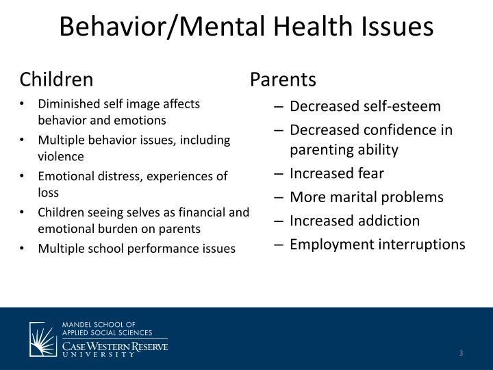 Behavior mental health issues