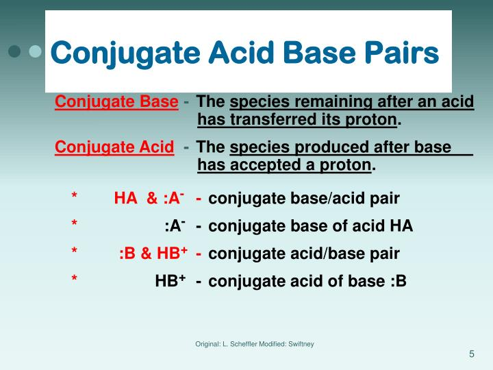 Conjugate Acid Base Pairs