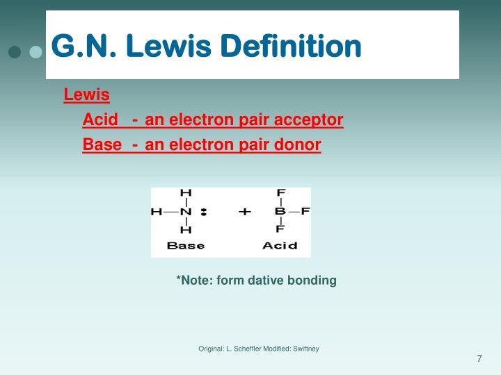 G.N. Lewis Definition