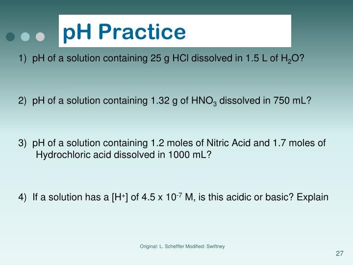 pH Practice
