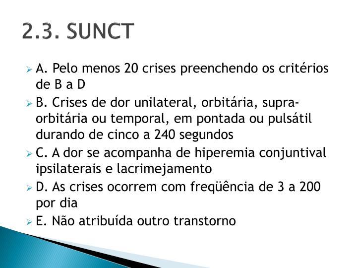 2.3. SUNCT