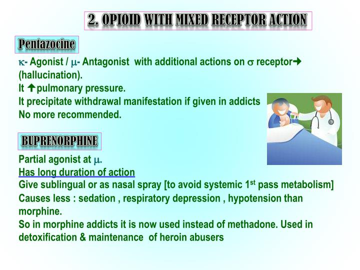 2. OPIOID WITH MIXED RECEPTOR ACTION