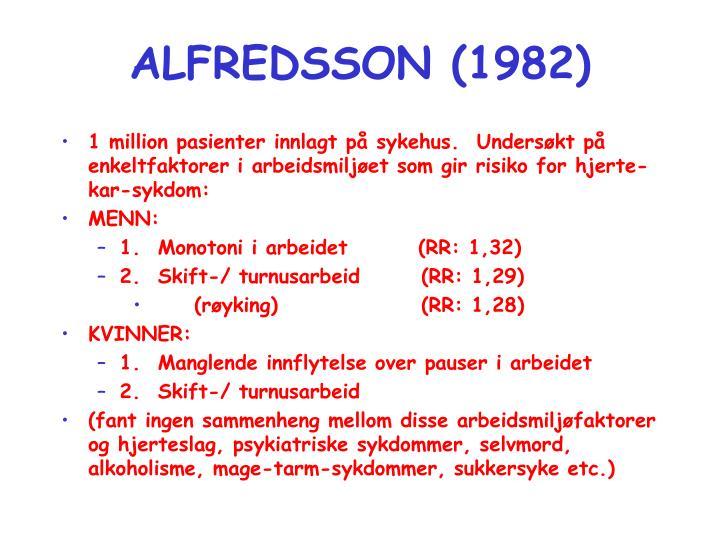 ALFREDSSON (1982)