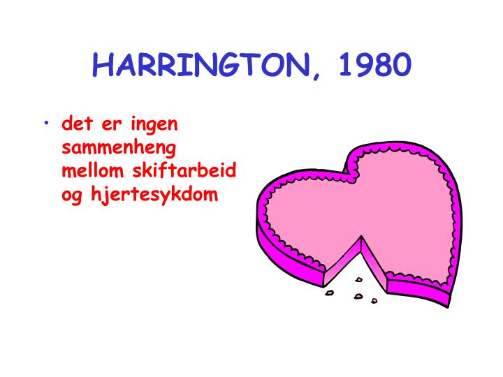 HARRINGTON, 1980