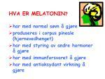 hva er melatonin
