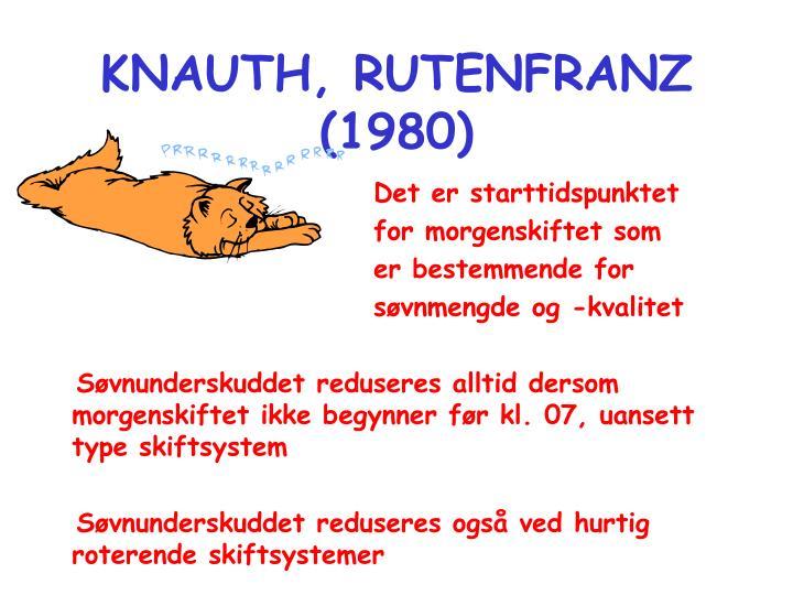 KNAUTH, RUTENFRANZ (1980)