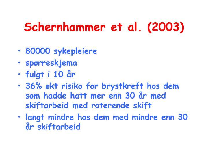 Schernhammer et al. (2003)