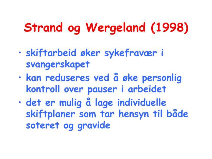Strand og Wergeland (1998)