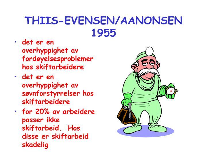 THIIS-EVENSEN/AANONSEN 1955