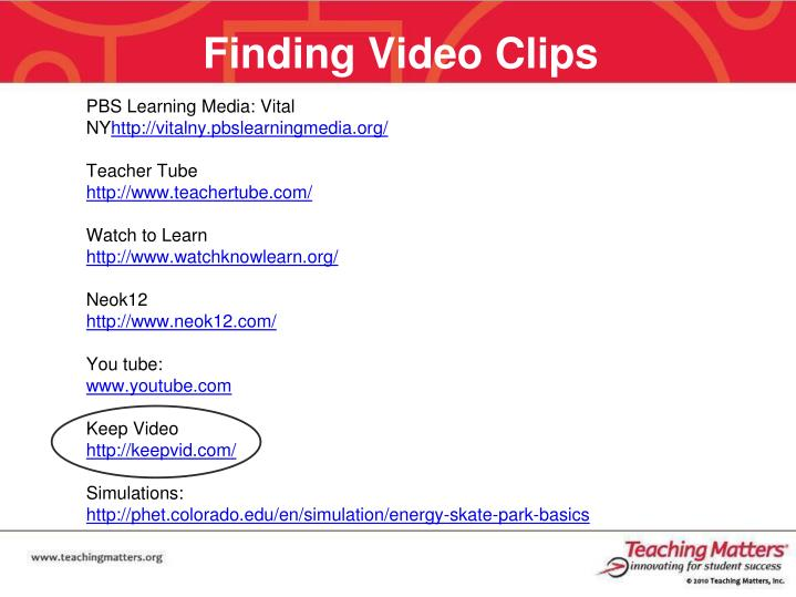Finding Video Clips