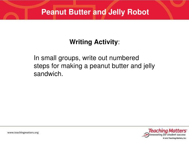 Peanut Butter and Jelly Robot