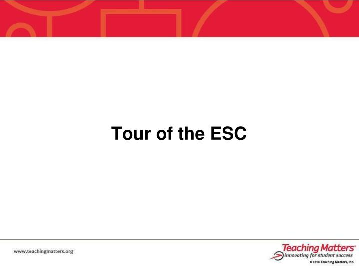 Tour of the ESC