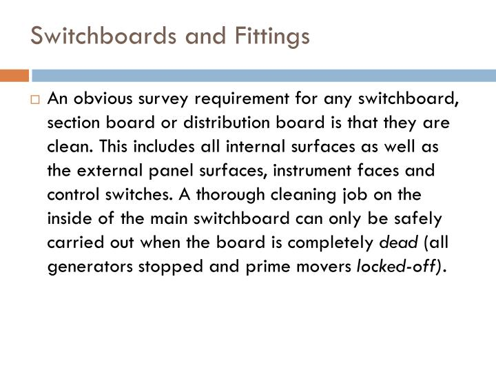 Switchboards and Fittings