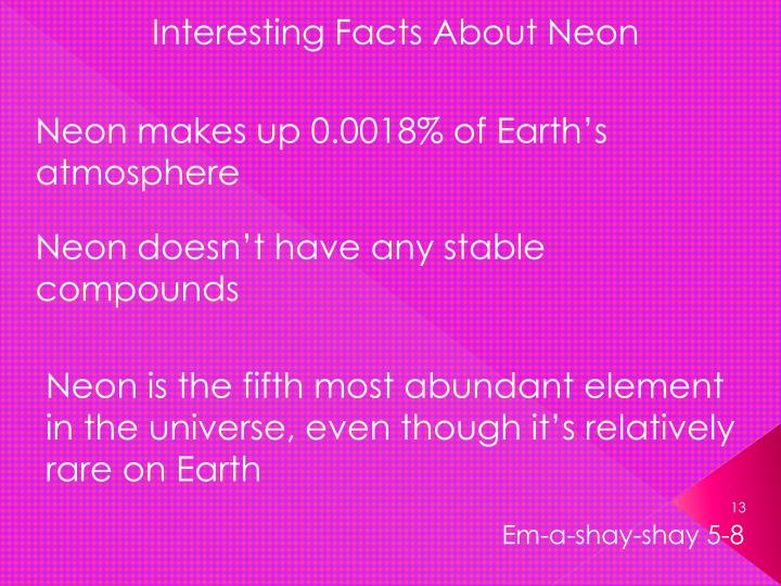 Interesting Facts About Neon