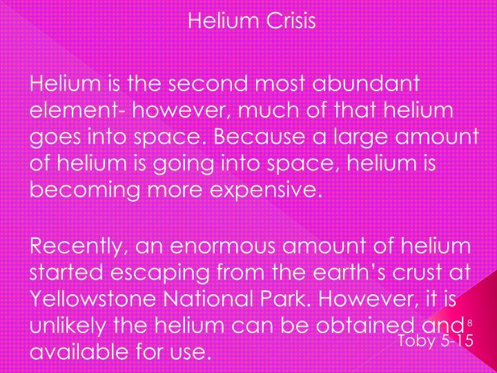 Helium Crisis