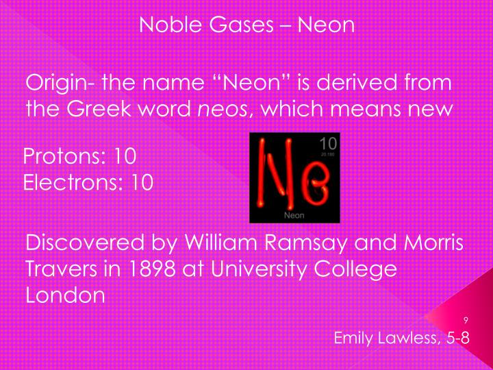 Noble Gases – Neon