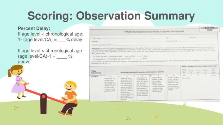 guidelines for observation based assessment