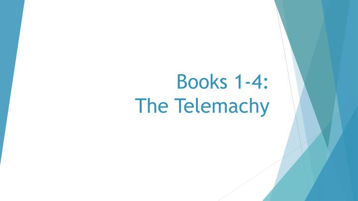 books 1 4 the telemachy