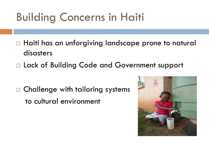 Building Concerns in Haiti
