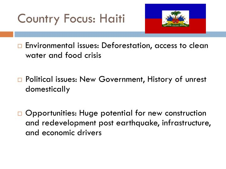 Country Focus: Haiti