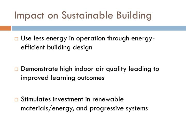 Impact on Sustainable Building