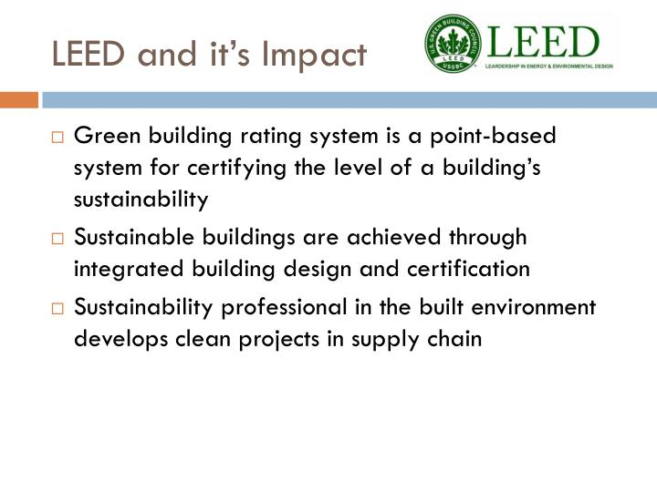 LEED and it's Impact
