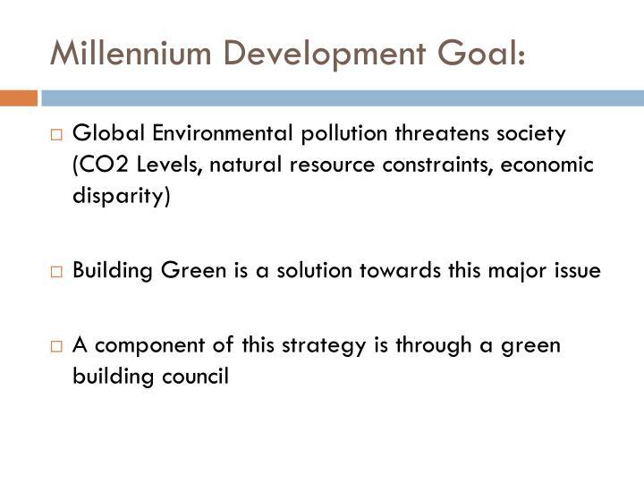 Millennium Development Goal:
