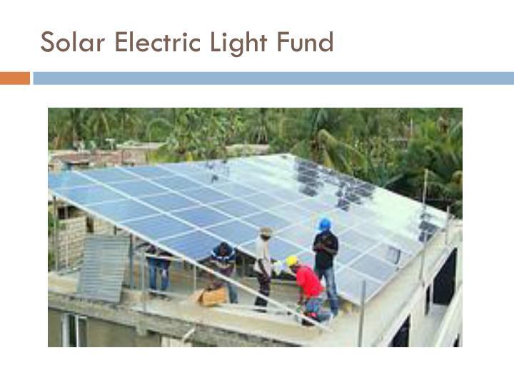 Solar Electric Light Fund