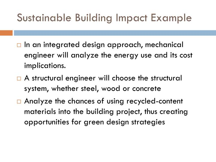 Sustainable Building Impact Example