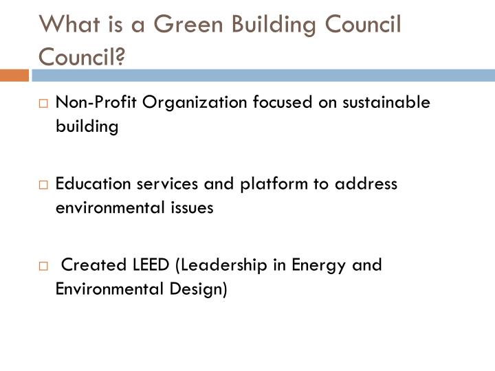 What is a Green Building Council