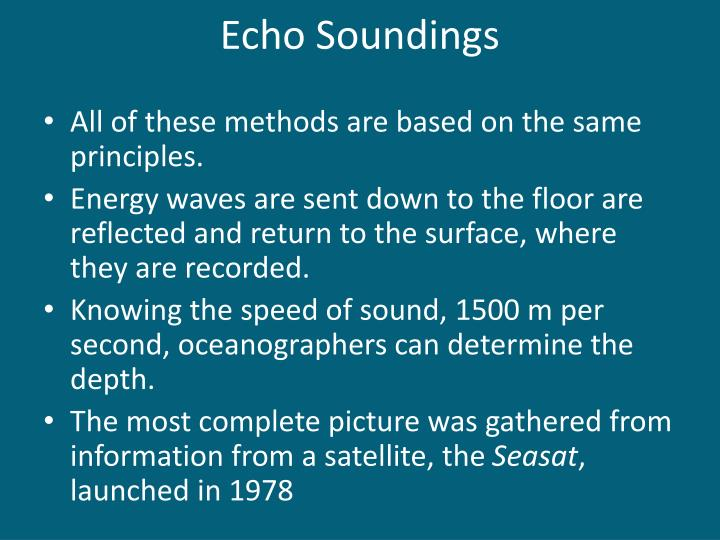 Echo Soundings