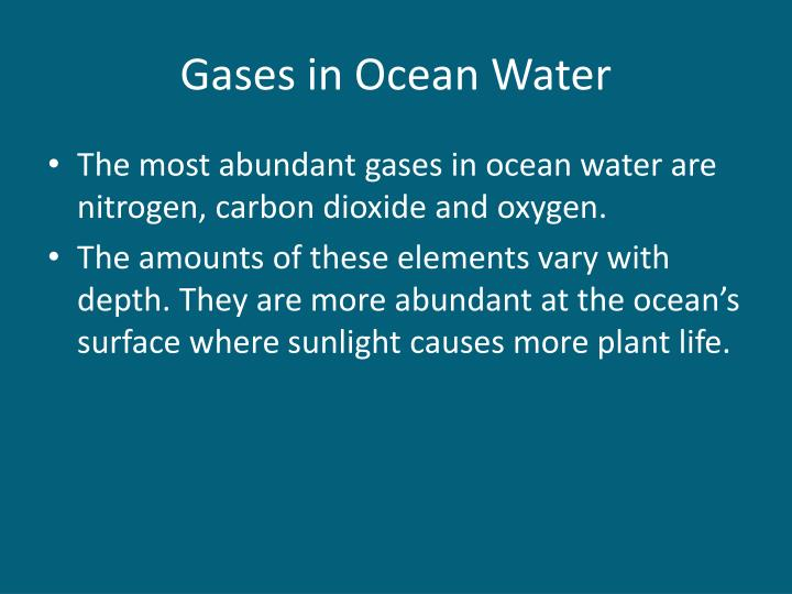 Gases in Ocean Water