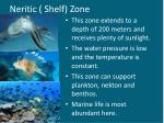 neritic shelf zone
